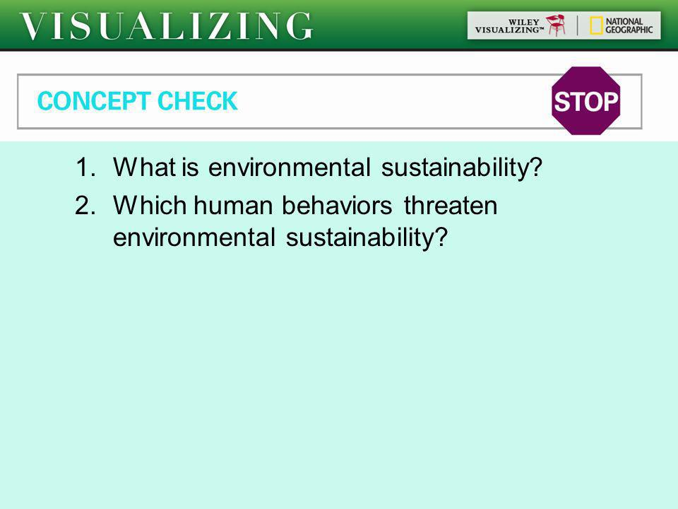 Global Climate Change What is environmental sustainability