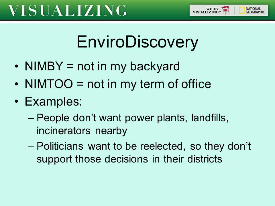 EnviroDiscovery NIMBY = not in my backyard