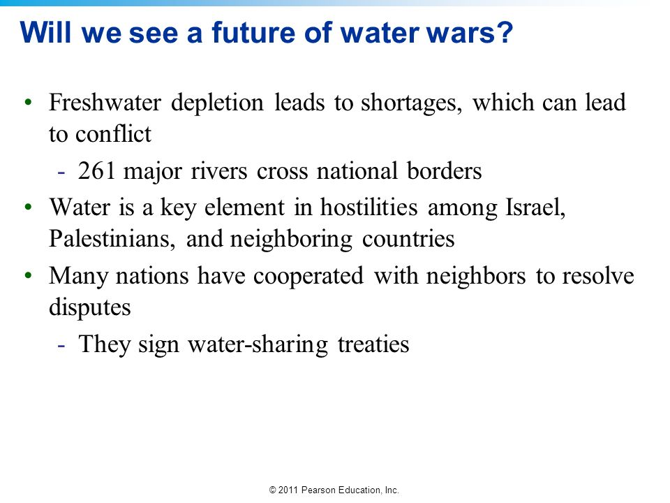 Will we see a future of water wars