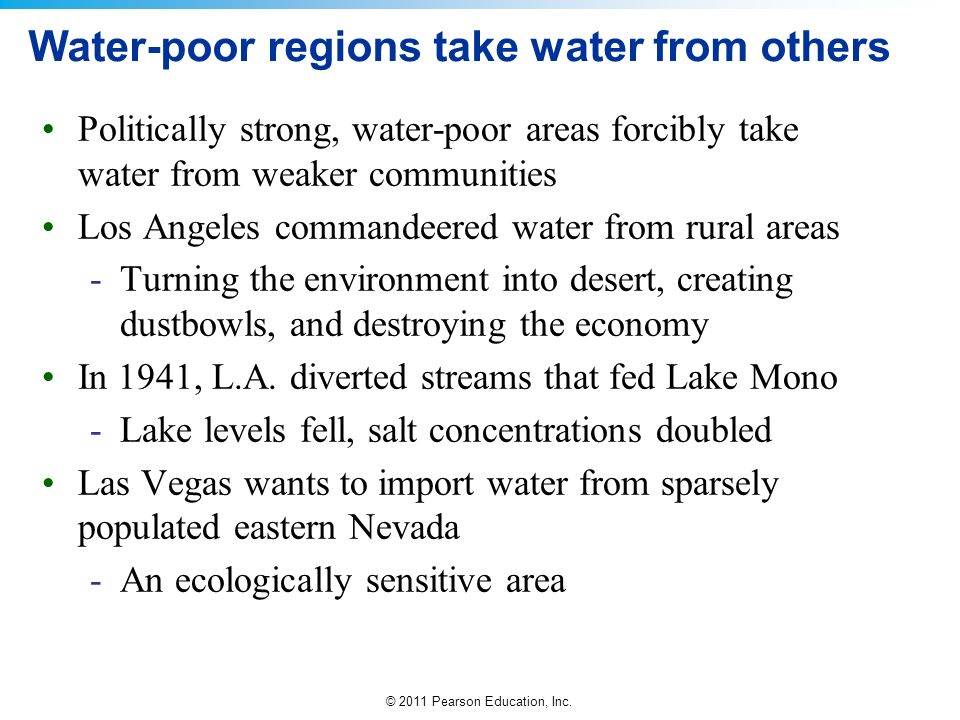 Water-poor regions take water from others