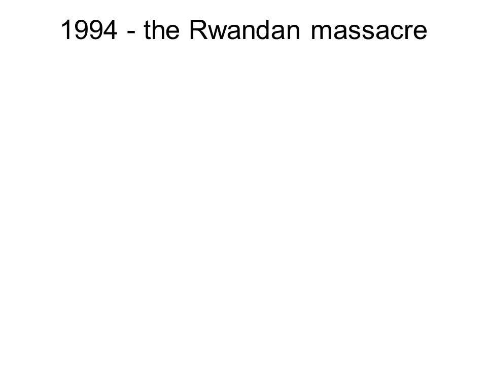 the Rwandan massacre