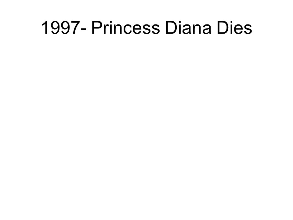 1997- Princess Diana Dies