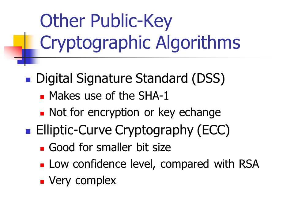 Other Public-Key Cryptographic Algorithms