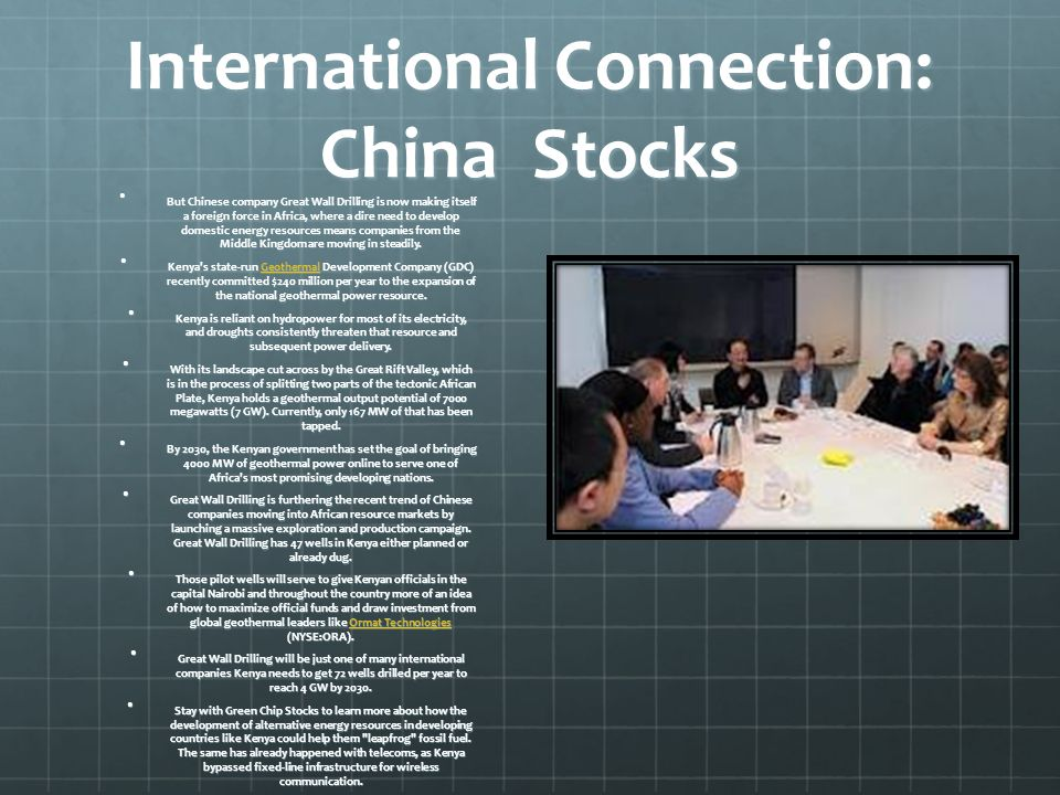 International Connection: China Stocks