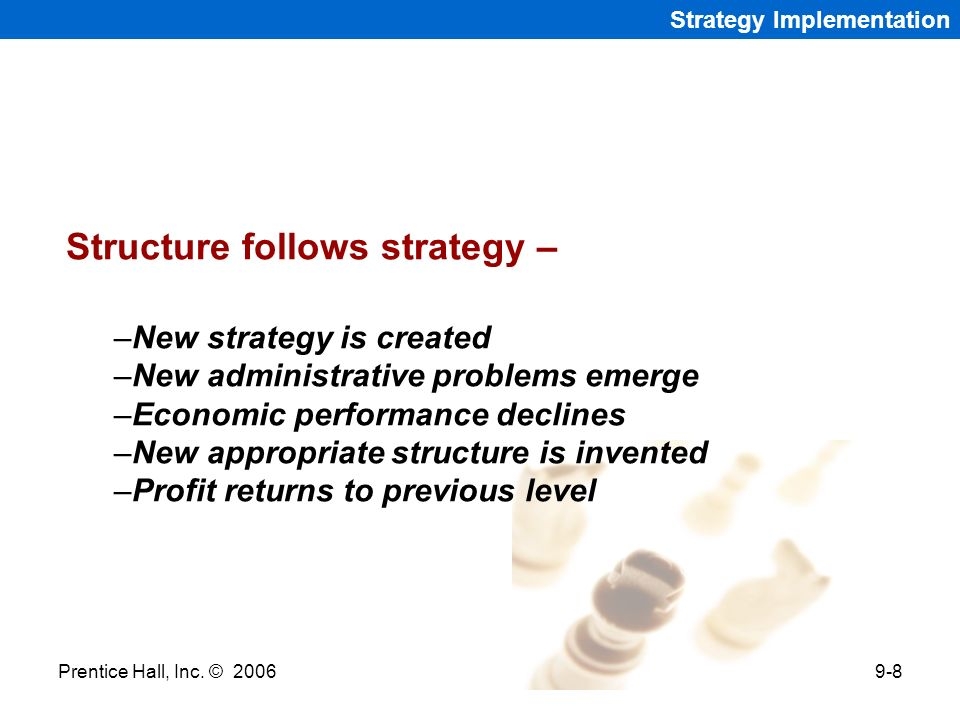 Structure follows strategy –