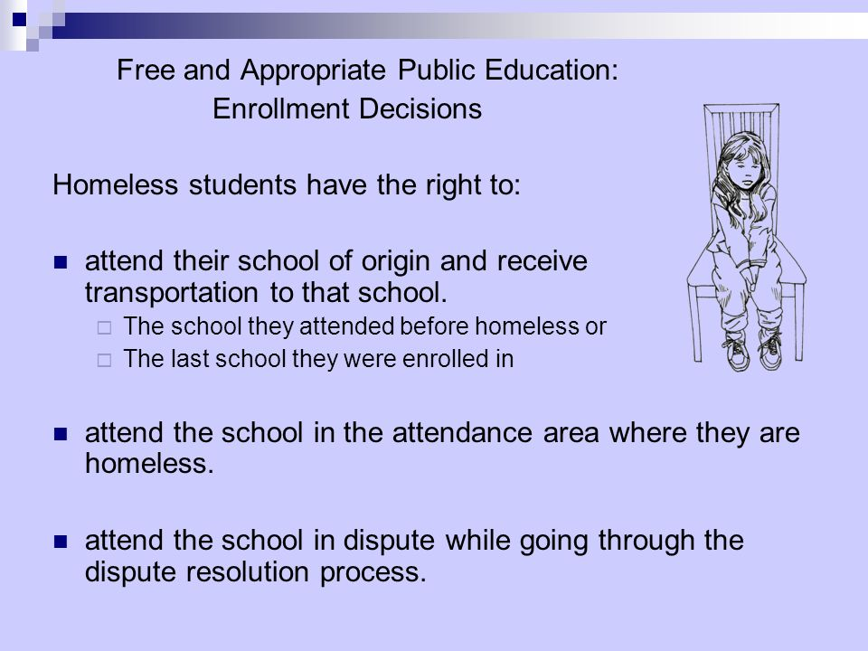 Free and Appropriate Public Education: Enrollment Decisions