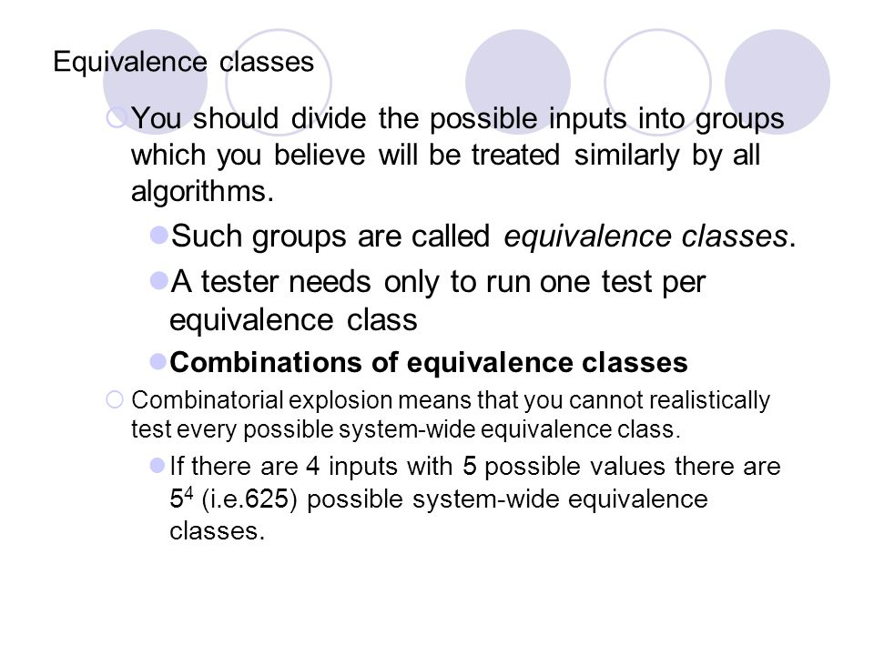 Such groups are called equivalence classes.