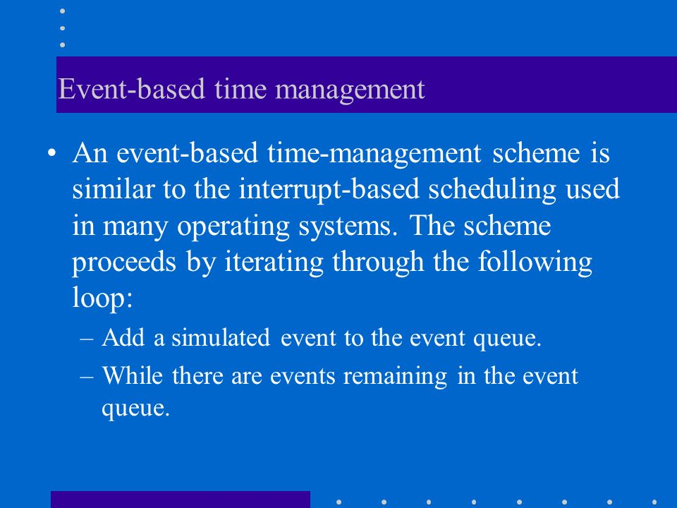 Event-based time management