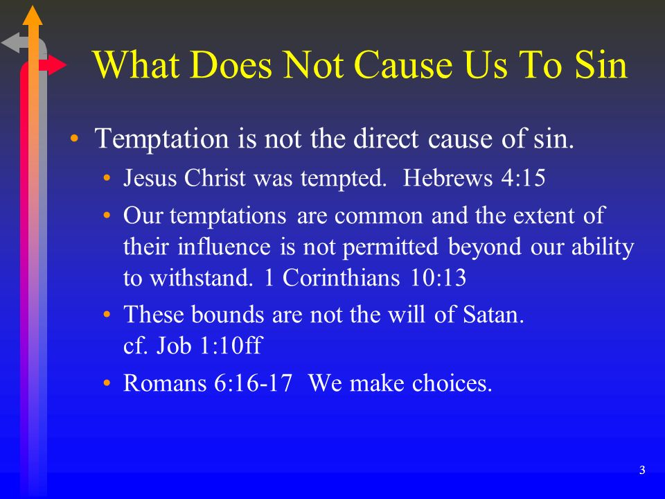 What Does Not Cause Us To Sin