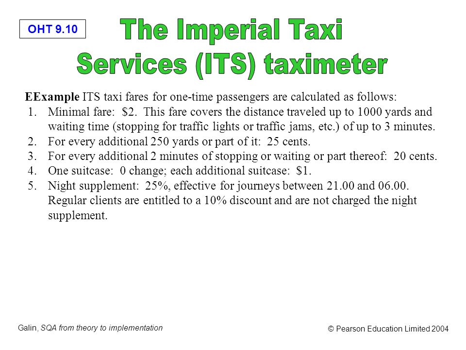 Services (ITS) taximeter