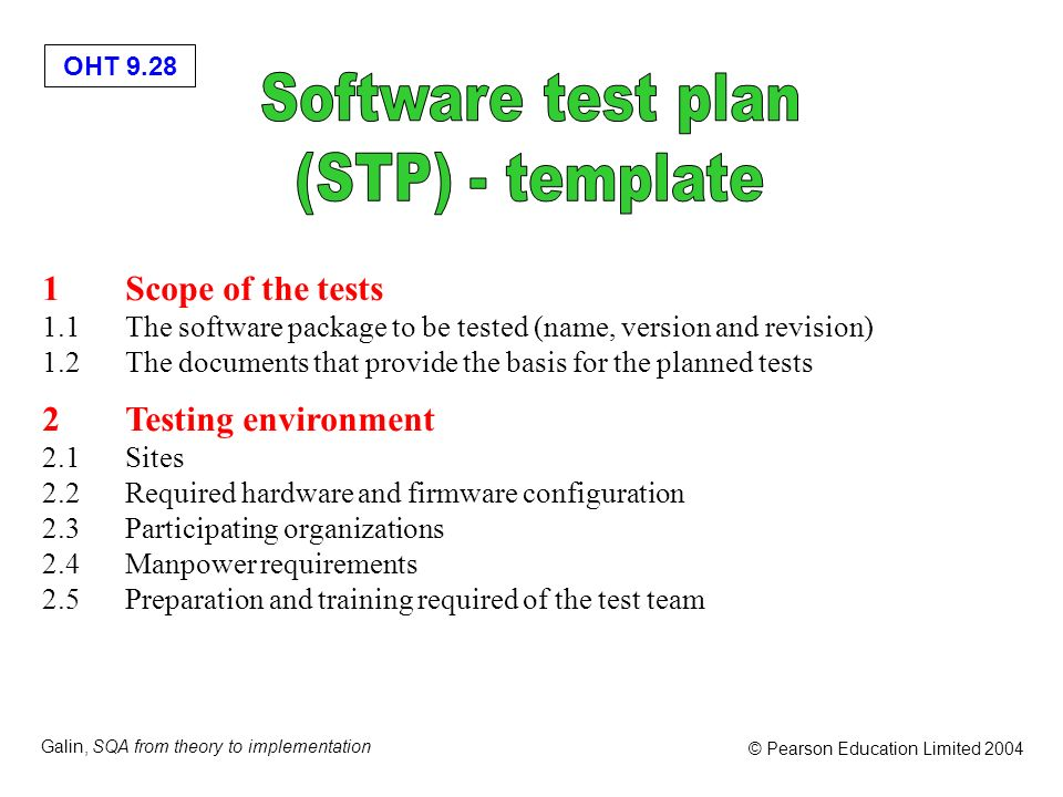 Software test plan (STP) - template 1 Scope of the tests