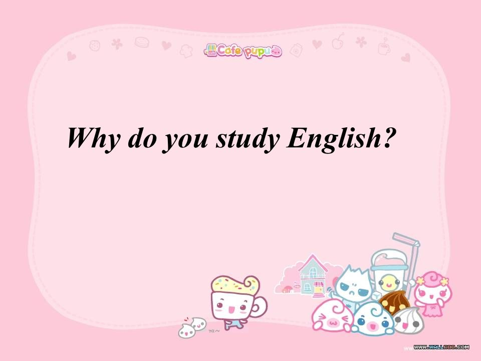Why do you study English