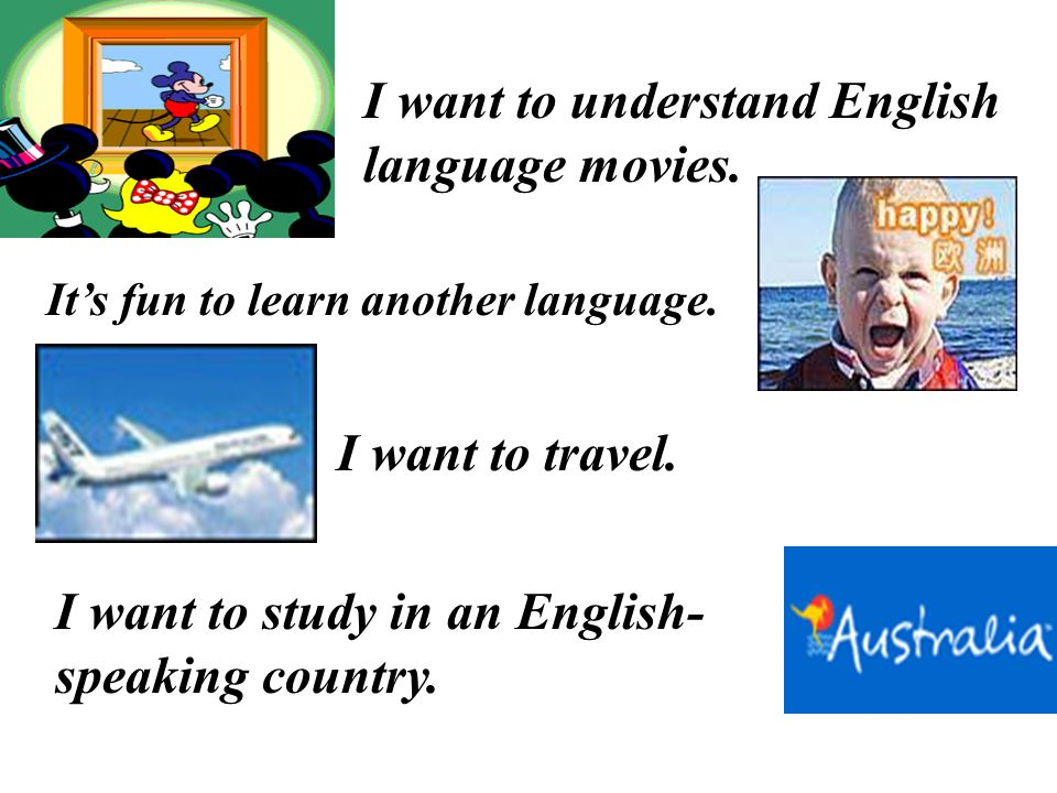 I want to understand English language movies.