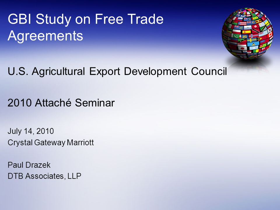 GBI Study on Free Trade Agreements
