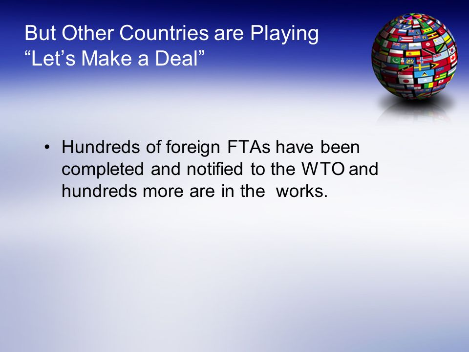 But Other Countries are Playing Let's Make a Deal