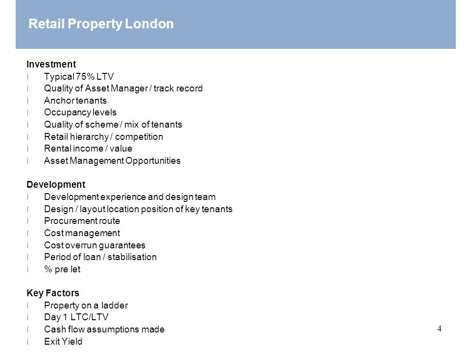 Retail Property London