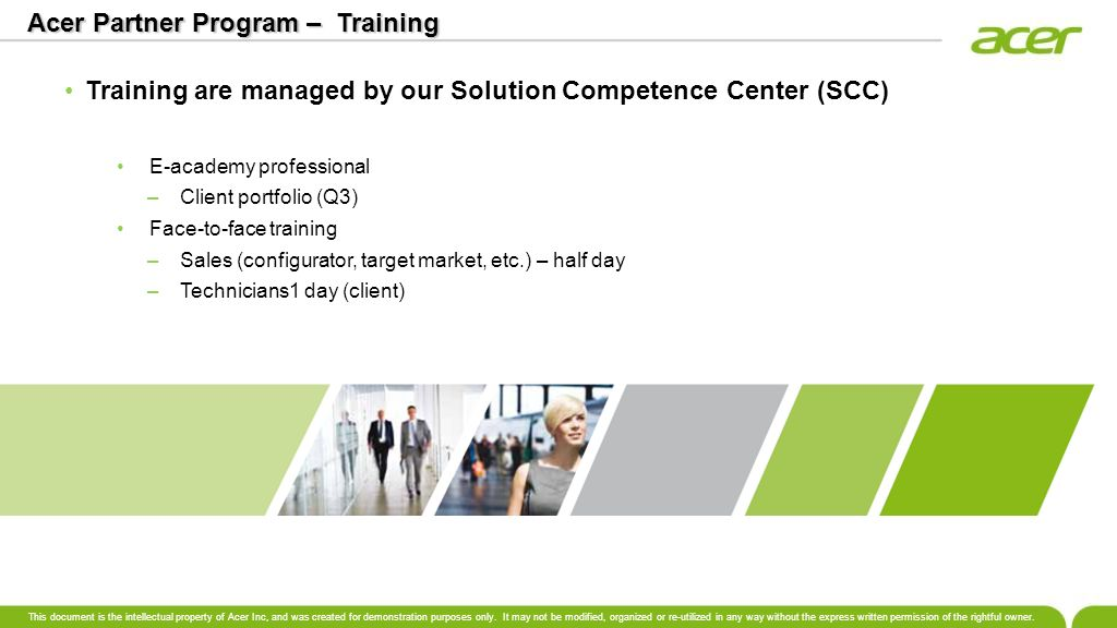 Acer Partner Program – Training