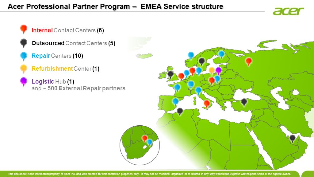 Acer Professional Partner Program – EMEA Service structure