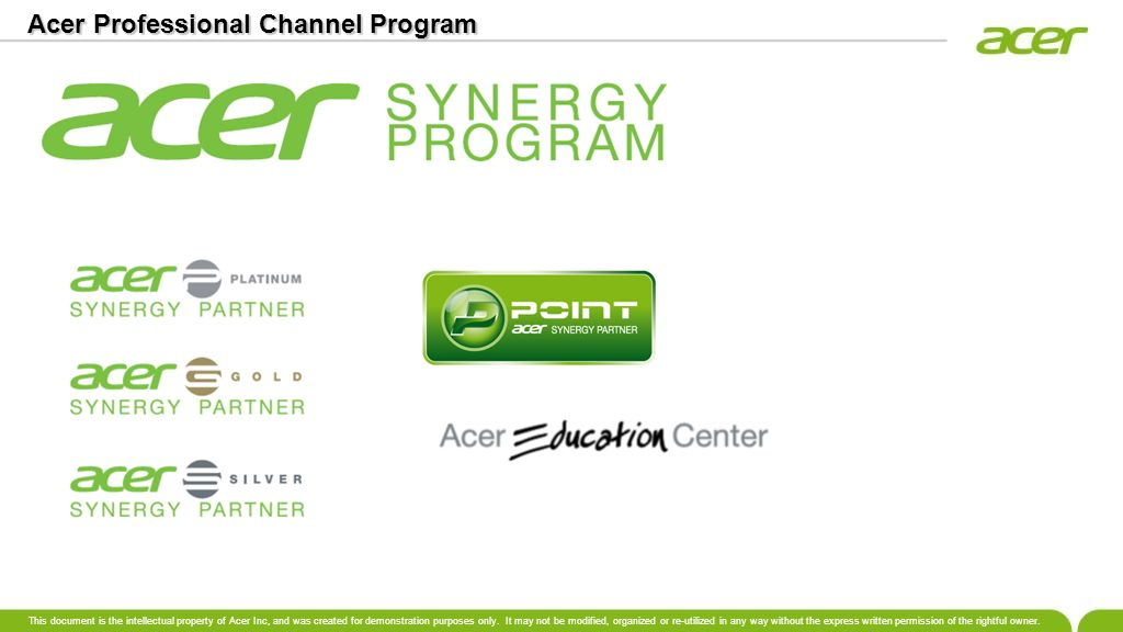 Acer Professional Channel Program