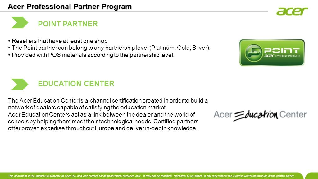 Acer Professional Partner Program