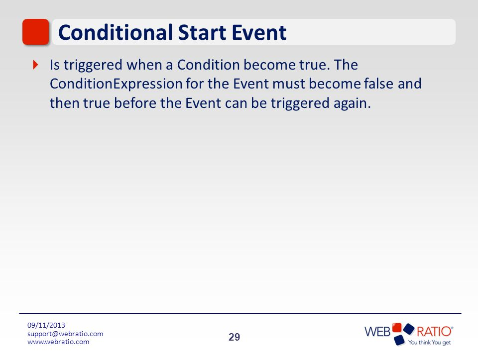 Conditional Start Event