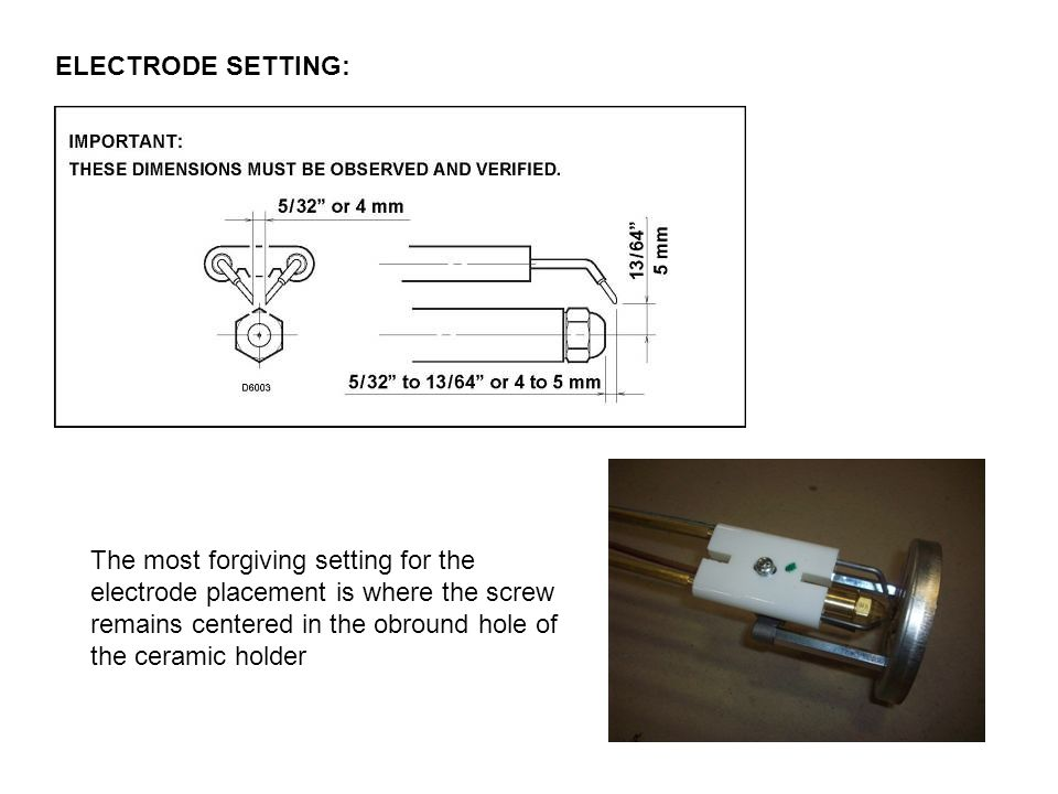 ELECTRODE SETTING: