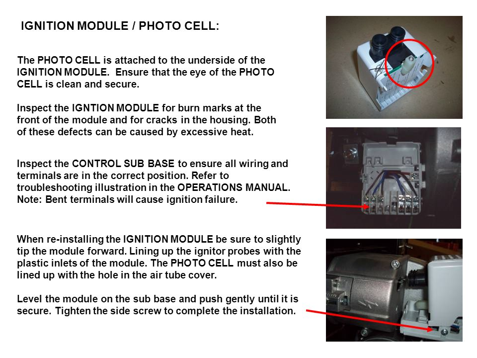 IGNITION MODULE / PHOTO CELL: