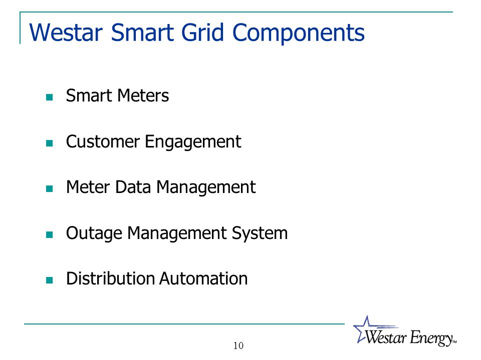 Westar Smart Grid Components
