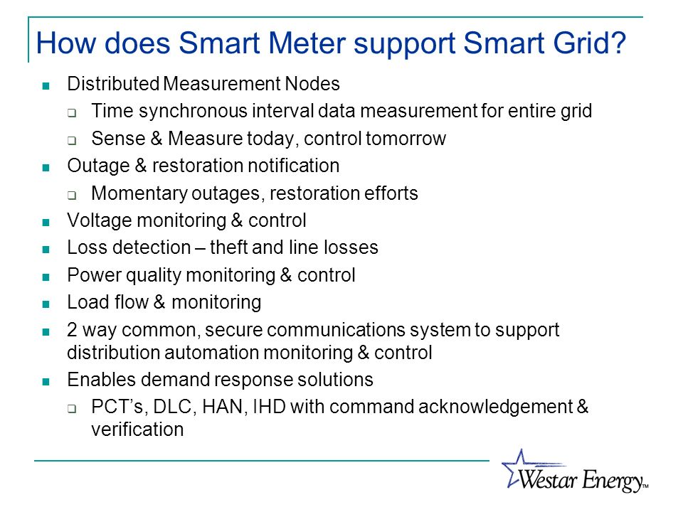 How does Smart Meter support Smart Grid