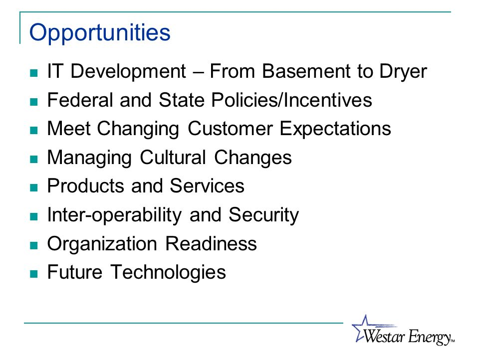 Opportunities IT Development – From Basement to Dryer