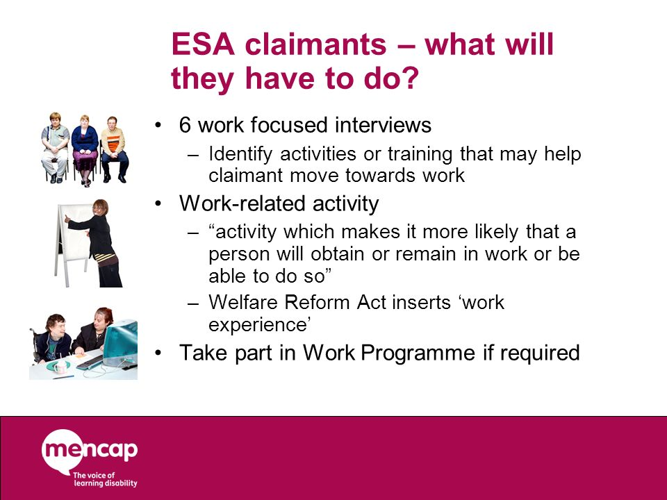ESA claimants – what will they have to do