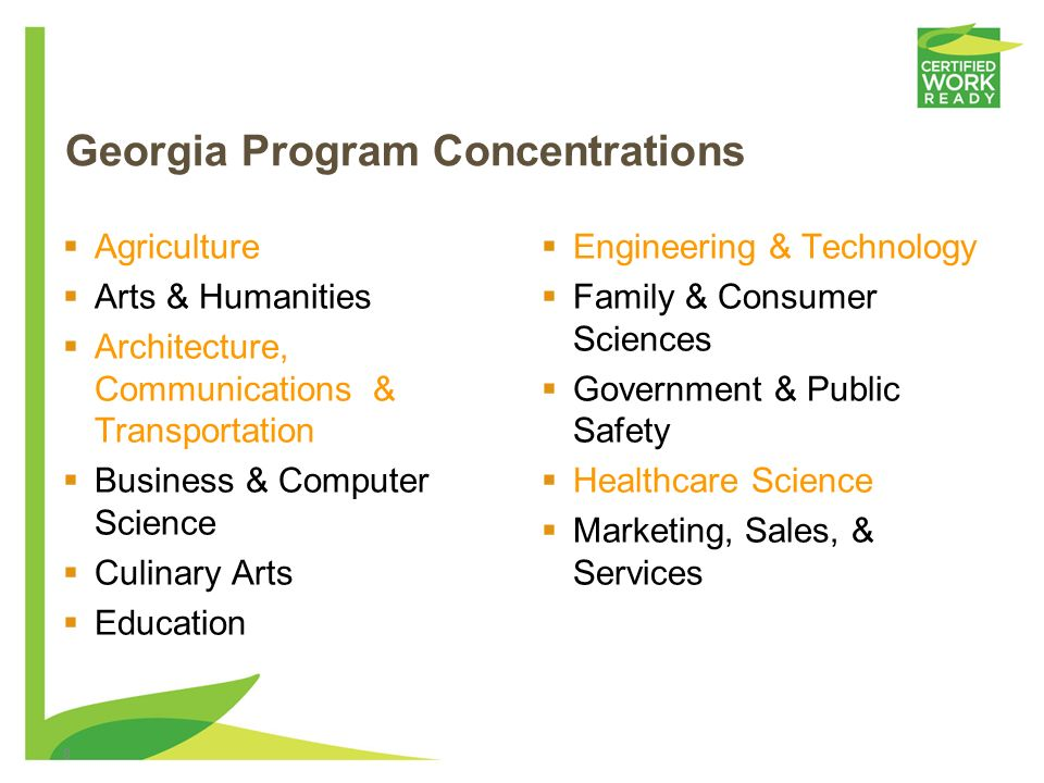 Georgia Program Concentrations
