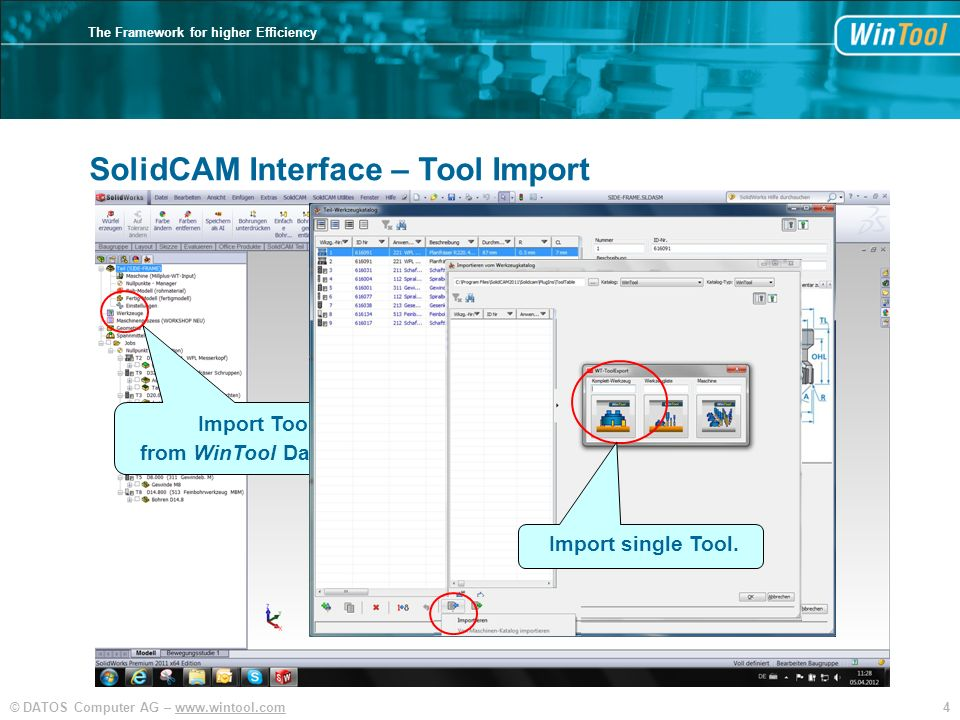 SolidCAM Interface – Tool Import