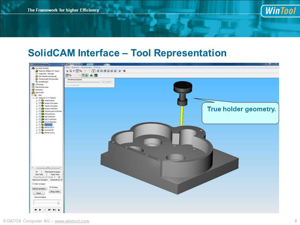 SolidCAM Interface – Tool Representation