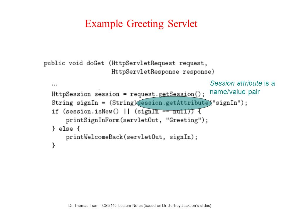 Example Greeting Servlet