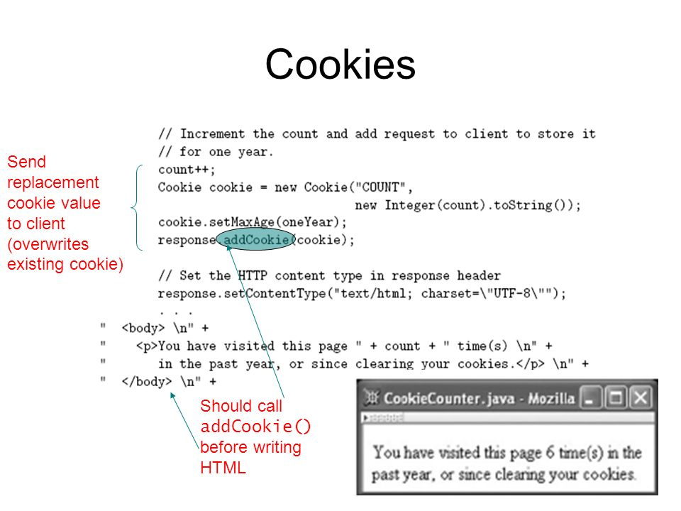 Cookies Send replacement cookie value to client (overwrites