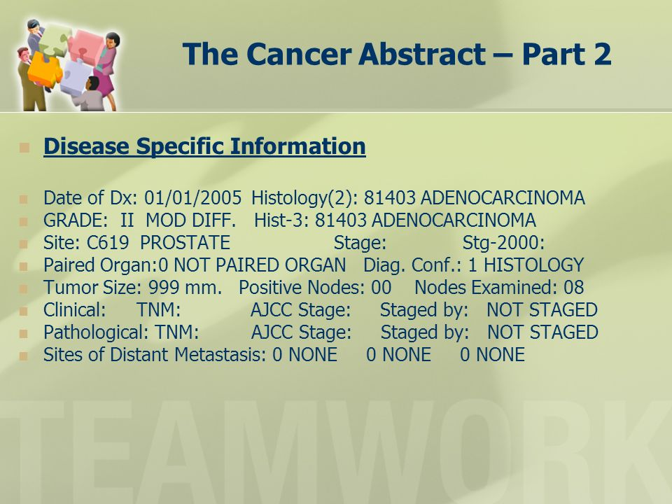 The Cancer Abstract – Part 2