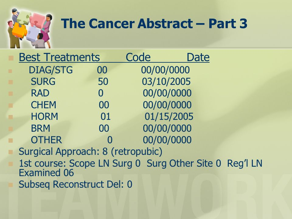 The Cancer Abstract – Part 3