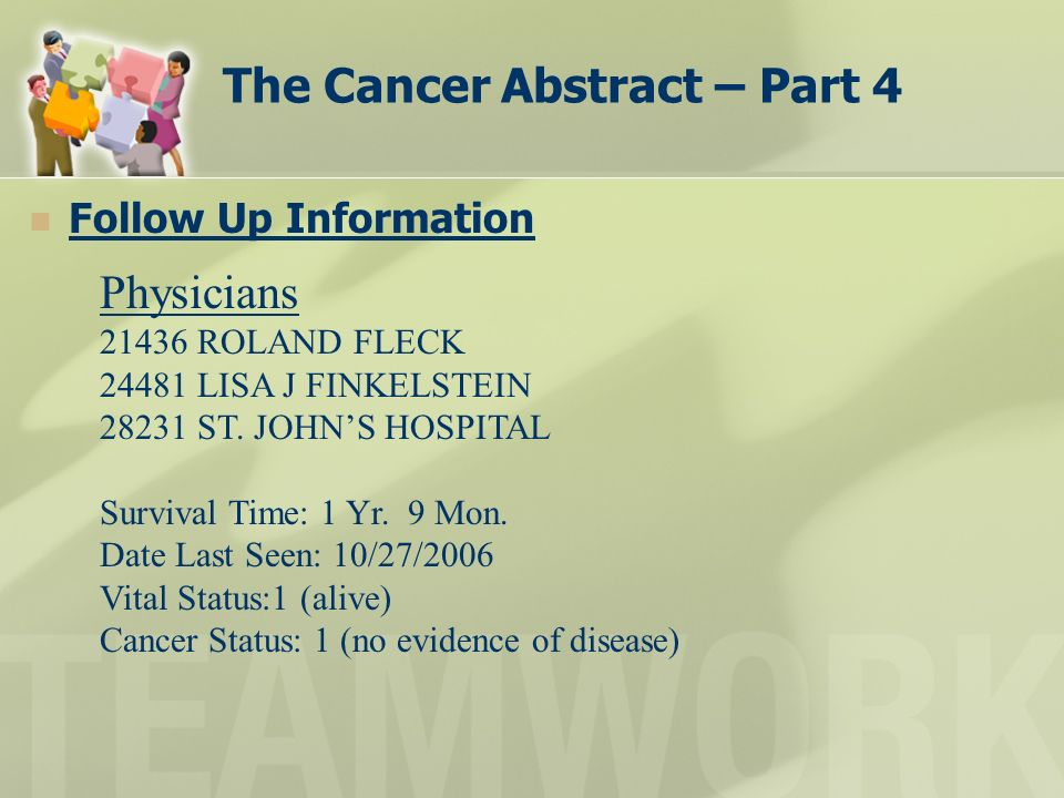 The Cancer Abstract – Part 4