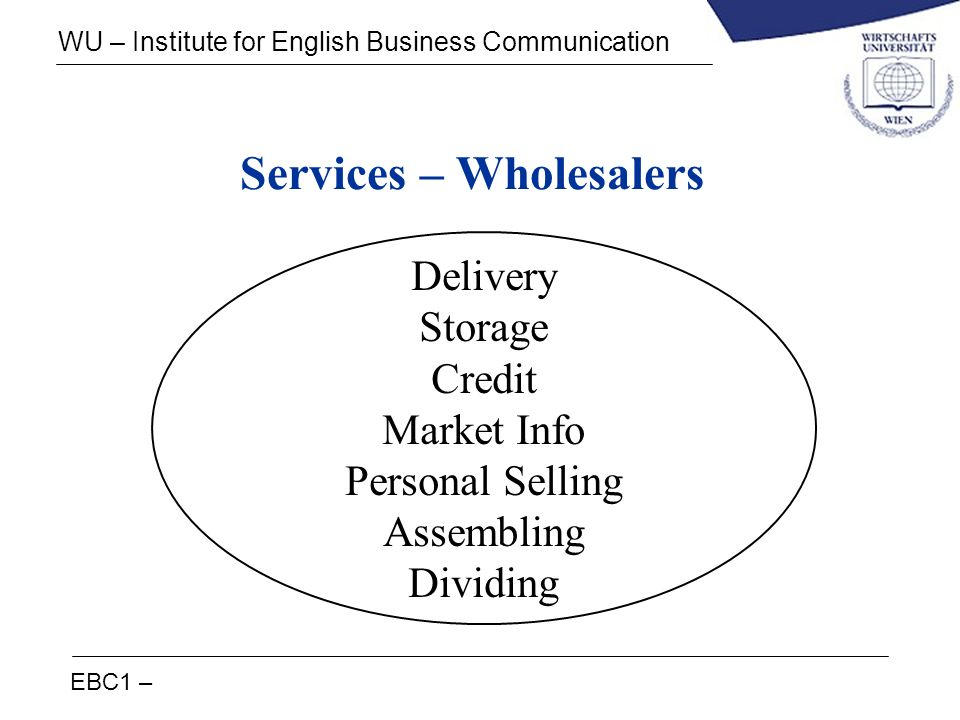 Services – Wholesalers
