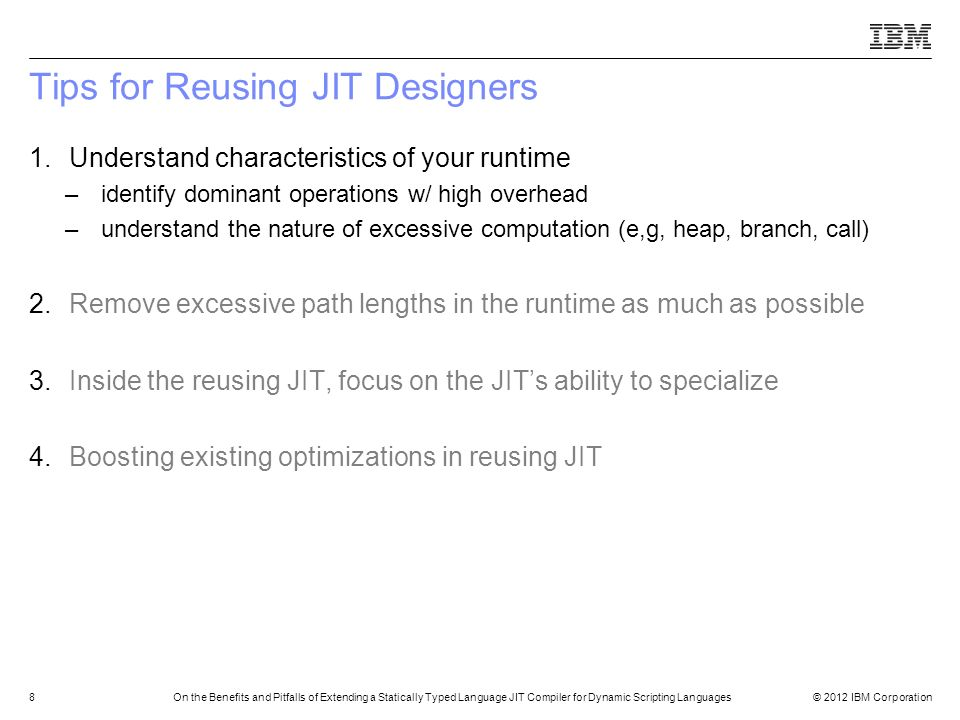 Tips for Reusing JIT Designers