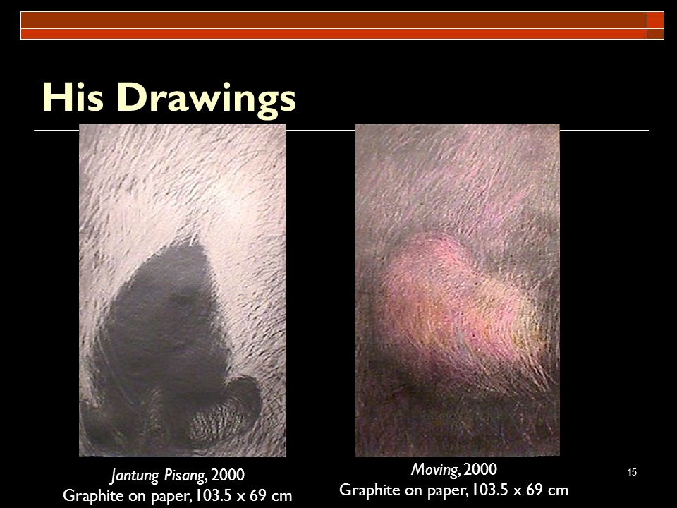 His Drawings Moving, 2000 Jantung Pisang, 2000