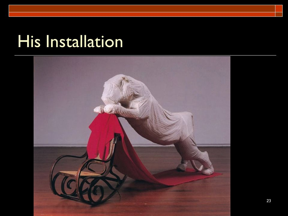 His Installation