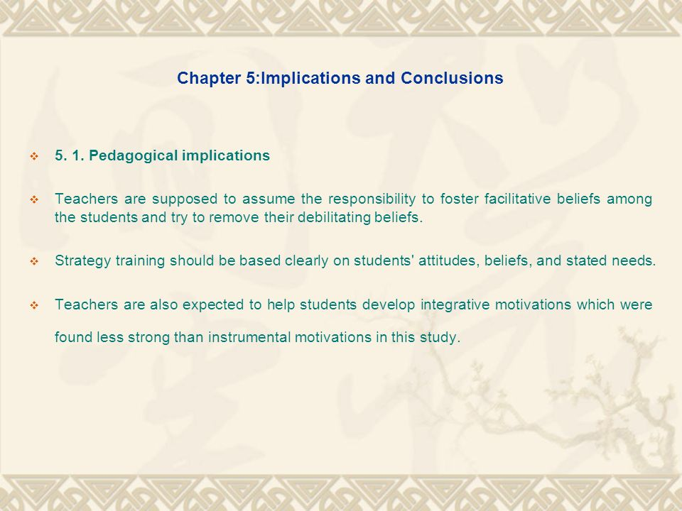 Chapter 5:Implications and Conclusions