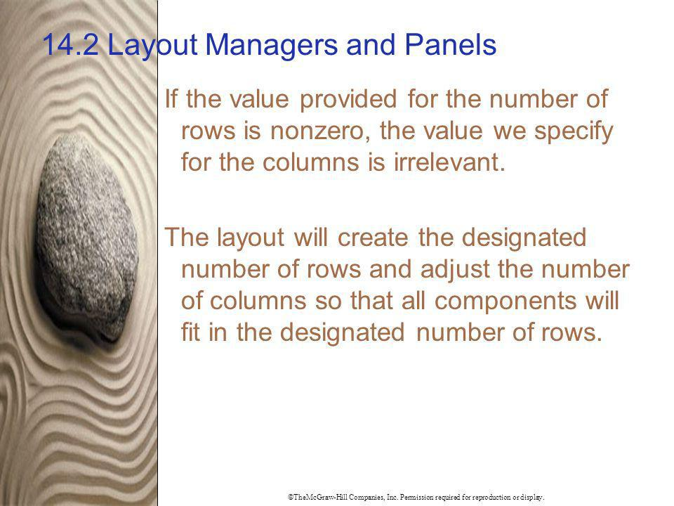 14.2 Layout Managers and Panels