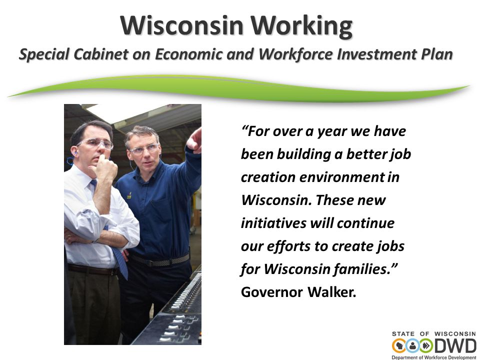 Special Cabinet on Economic and Workforce Investment Plan