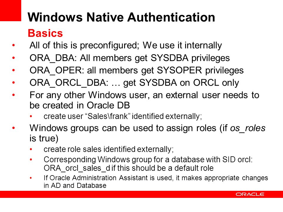 Windows Native Authentication Basics