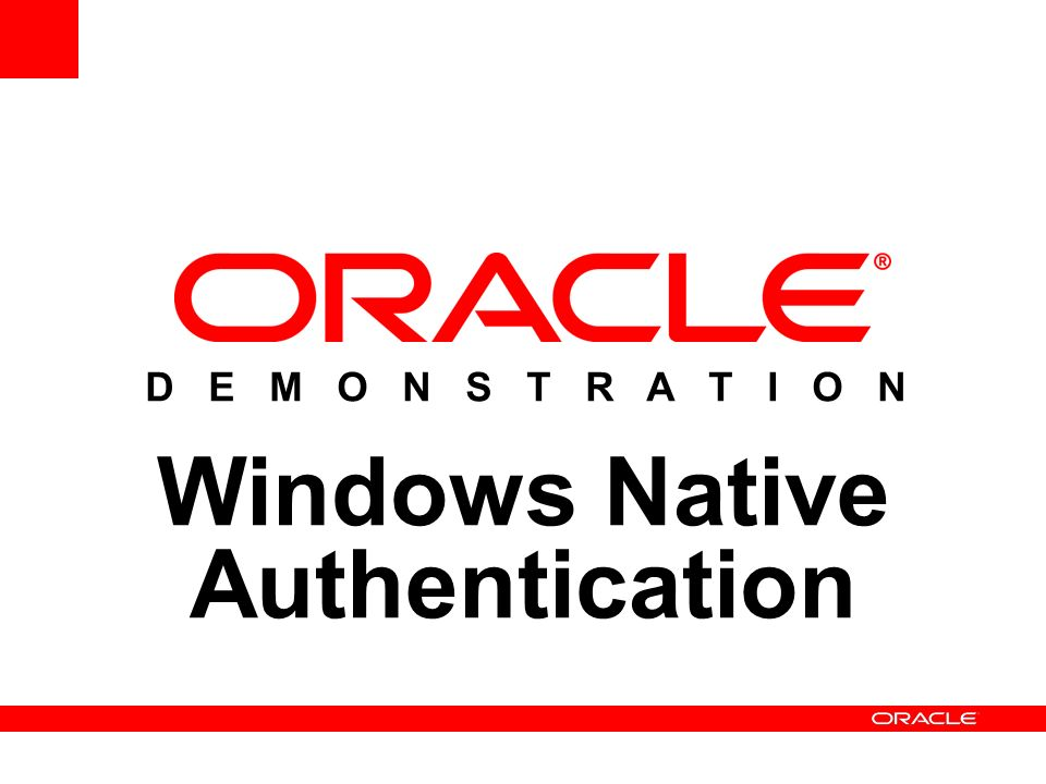 Windows Native Authentication