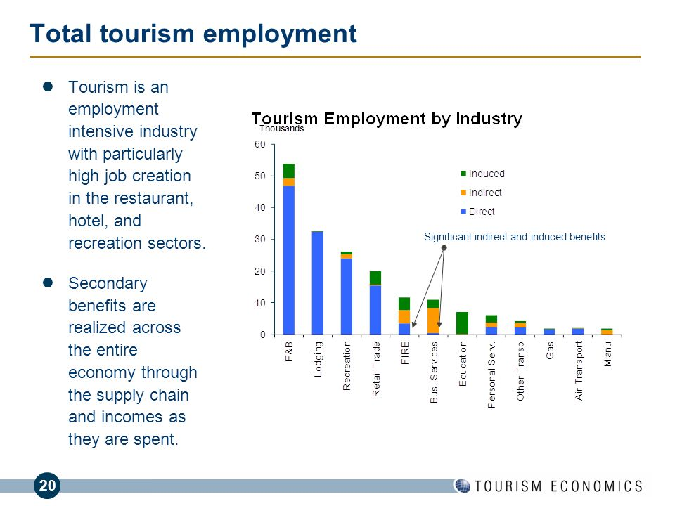 Total tourism employment