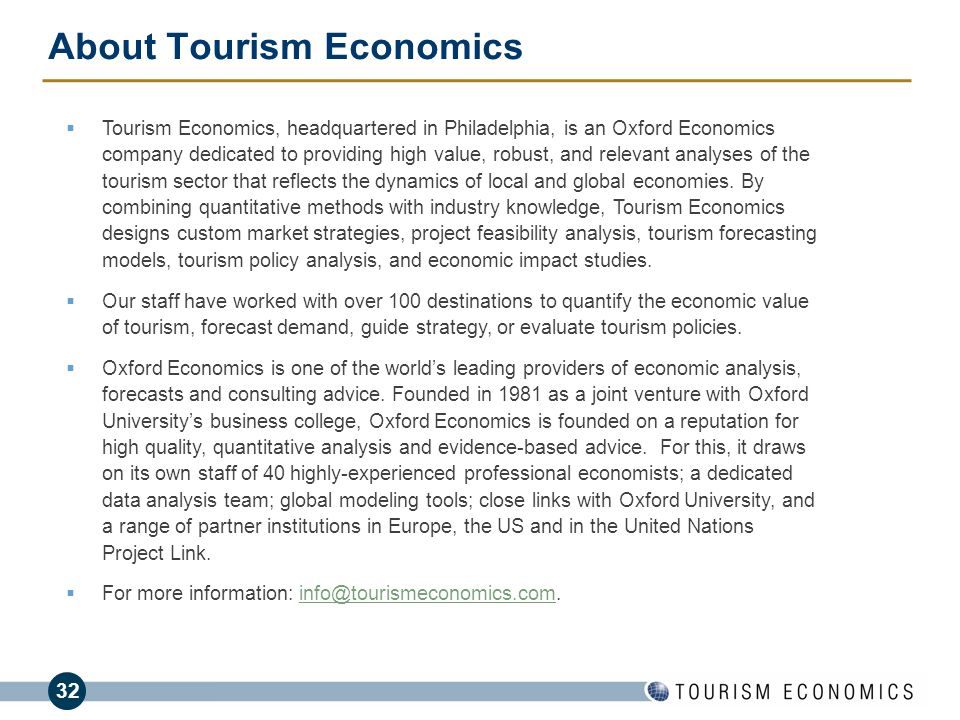 About Tourism Economics